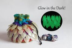 Hey, I found this really awesome Etsy listing at https://www.etsy.com/listing/522945816/rainbow-dice-bag-glow-in-the-dark-bag-of