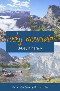 Take the trip to Rocky Mountain National Park that your family can't stop talking about! More than a travel guide, this itinerary will take you through Rocky Mountain hour-by-hour, so you don't spend your vacation trying to find things to do in the park! Whether you'll be hiking with kids, camping with families, or are on a solo photography adventure, we'll hit your bucket lists hard! This is your key to a fun and memorable road trip without all the planning! Best Family Vacations, Mountain Vacations, Beautiful Places To Visit, Cool Places To Visit, Denver Vacation, Hiking With Kids, Rocky Mountain National Park, Amazing Destinations, Bucket Lists