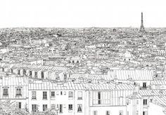 Papier peint panoramique Vue de Paris avec la tour Eiffel par Thomas Lable alias Materz http://www.ohmywall.com/product/Papier-peint-Vue-de-Paris-Invalides-Tour-Eiffel-Panoramique-Thomas-Lable-alias-Materz