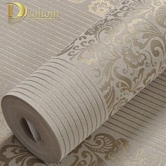 Cheap wallpaper roll, Buy Quality wall paper modern directly from China flocking wallpaper Suppliers: Home Improvement wall paper modern Fashion Non-woven Flocking Wallpaper Rolls for bedroom background wall 5 Colors