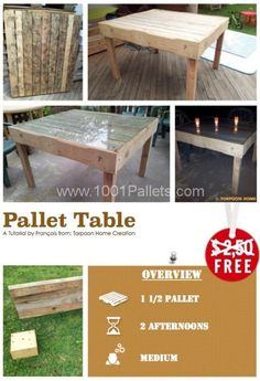Diy Tutorial: Pallet Table