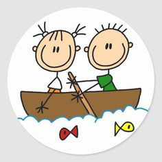 Love Stick, Happy Rock, Fish Drawings, Design Girl, Stick Figures, Drawing For Kids, Stone Art, Round Stickers, Fishing Boats