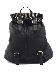 Studded Faux-Leather Backpack: Charlotte Russe