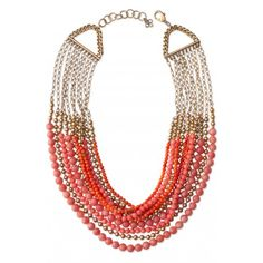 Gorgeous Coral, Stella & Dot Palamino Necklace - Perfect for Spring!  http://www.stelladot.com/ts/uwgn5