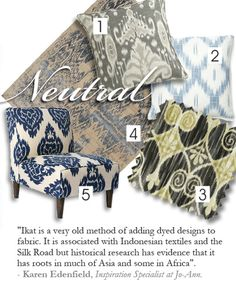 #Ikat #fabric [love the neutral shades, too!]