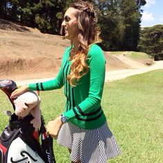 """March 31, 2014: """"Practicing for my next tournament,"""" the Turkish Ladies Open,"""" said Spain's Paula Hurtado."""