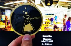 Catalyze CU, the University of Colorado Boulder accelerator, will be celebrating their fourth cohort of participants. They printed up a classic circle sticker of their logo that features the black and gold colors of the CU Buffs and a laboratory theme using a beaker representing the many ideas that bubble up in their accelerator.  Catalyze is CU-Boulder's eight-week summer startup accelerator designed for students and faculty. Catalyze CU combines world class mentoring and equity-free grants…