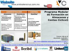 Programa Modular de Formación en Almacenes y Conteo Cíclico®.  Conoce más en el documento explicativo:  Slideshare http://www.slideshare.net/avaleroc/8-aa-ai-y-cc-avc-c Y Scribd http://es.scribd.com/doc/218099451/Administracion-de-Almacenes-Inventarios-y-Control-de-Existencias