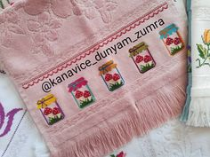 No automatic alt text available. Baby Alive, Diy And Crafts, Towel, Cross Stitch, Dish Towels, Cross Stitch Kitchen, Needlepoint, Little Birds, Cases
