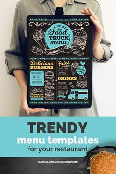 All food menus Archives - Barcelona Design Shop Bakery Menu, Menu Restaurant, Restaurant Recipes, Restaurant Design, Food Menu Design, Food Truck Design, Food Menu Template, Menu Templates, Vintage Food