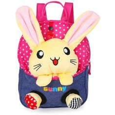 2016 New Cute Bear School Bags Children Backpack Canvas Cartoon Doll Bear Children School Bags for Kids Backpack BB44