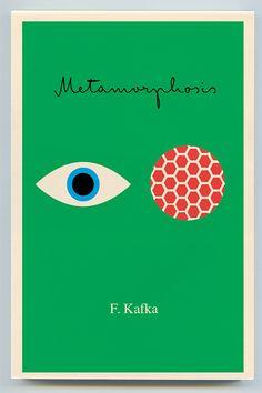 Peter Mendelsund, book design for Franz Kafka's Metamorphosis Best Book Covers, Beautiful Book Covers, Book Cover Art, Book Cover Design, Book Art, Gig Poster, Good Books, My Books, Magazin Design