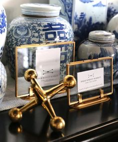 - Double Sided Glass Picture Frames, Brass - metal and glass - mounts within a brass stand - modern glass style which allows images to be seen on both sides - can be clipped in vertically or horizonta Glass Picture Frames, Modern Picture Frames, Double Sided Picture Frame, Modern Glass, Ginger Jars, Photo Displays, Diy Wedding, Photos, Blue And White