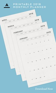 Plan Ahead / Keep Track - Monthly Planner, Design Shop, Wall Art Decor, Planners, Organize, Track, Greeting Cards, Typography, Notes