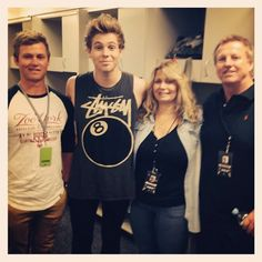 Luke's family♡ I do not see where he gets his height from. Haha
