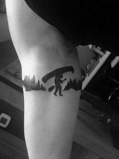 40 Canoe Tattoo Designs For Men - Kayak Ink Ideas Forest Tattoo Sleeve, Forest Tattoos, Leg Tattoos, Sleeve Tattoos, Tatoos, Loon Tattoo, Small Tattoos For Guys, Tattoo Designs Men, Kayaking