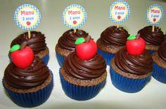 Estes mini cupcakes enfeitaram ainda mais a linda festa de 3 aninhos da Manu!