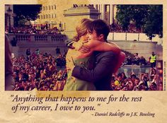 so touching. I cry every damn time i watch the golden trio's speeches and J.K.'s...like seriously..every damn time!
