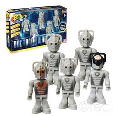 Character Building Doctor Who 5 Cyberman Collector Set!