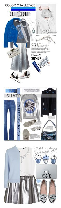 """""""Winners for Rock This Look: Blue and Silver"""" by polyvore ❤ liked on Polyvore featuring Acne Studios, DKNY, Viktor & Rolf, Jao, Wallis, J Brand, Hot Diamonds, Rodarte, Fendi and Prtty Peaushun"""