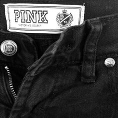 Victoria's Secret PINK Black Skinny Jeans Victoria's Secret PINK Black Skinny Jeans in size 0 Small. Lightly used. Cute detailing with pink stitching accents. Great condition. No rips, tears or stains. Comes from a pet- free, smoke-free home. PINK Victoria's Secret Jeans Skinny
