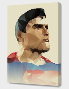 """Superman"", Numbered Edition Canvas Print by Nicola felasquez Felaco  - From $69.00 - Curioos"
