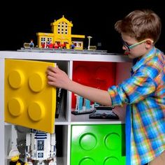 Meet Qlibs. They clip onto your IKEA Kallax and Expedit doors to turn them into giant LEGO bricks.
