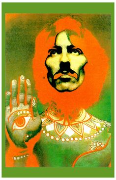"The Beatles ""George Harrison"" Psyche Poster 1967"
