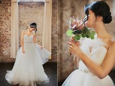 """Romantic, lovely...the """"Vinca"""" dress at The White Gown, Brooklyn NY"""