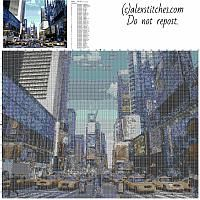 New York City NYC street view free cross stitch pattern home painting idea