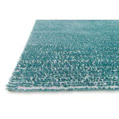 Loloi Rugs Happy Shag Blue Solid Area Rug | AllModern