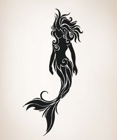 mermaid Silhouette | Swimming Mermaid Silhouette Os_aa1686_tribal_mermaid-1.jpg ...
