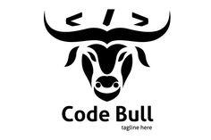 Code Bull Logo by tkent on @creativemarket