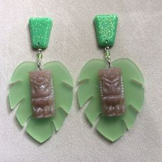 The Tiki Tiki Tiki Room Jumbo Pearly Tan by SummerBlueJewelry