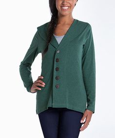 Take a look at this Moss Shawl Collar Cardigan by lur® on #zulily today! $28 !!