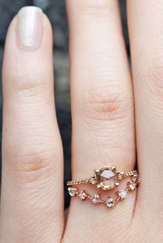 colorful round cut engagement rings 2
