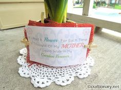 Mother's day flowers- free printable