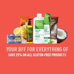 All Goodness. No Gluten. Save 25% on our entire GF collection!
