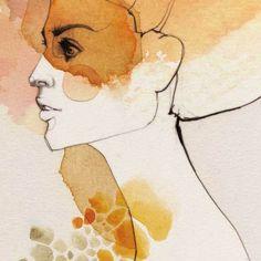 Digitaldruck - Elle - ein Designerstück von Ekaterina-Koroleva bei DaWanda