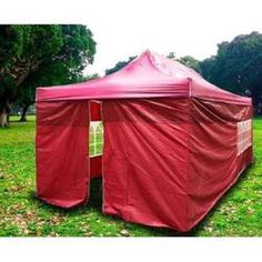 Cielo - Blue New Heavy Duty Ez Canopy Pop up Tent Canopy Shade 20'x10' Red