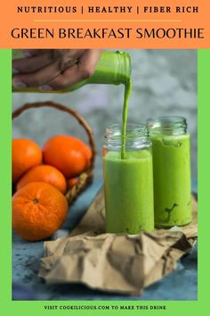 Need something to wake you up? Try my Mango Spinach Yogurt Green Smoothie for breakfast today! It's fresh, healthy