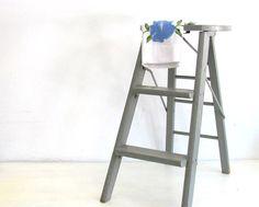 Vintage Wood Ladder Step Stool Folding Ladder by NifticVintage, $47.00