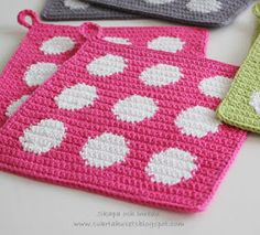 Crochet Potholder Patterns, Crochet Projects, Pot Holders, Gingerbread, Deco, Mosaic, Coin Purse, Knitting, Cute