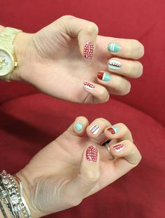Love these Aztec nails