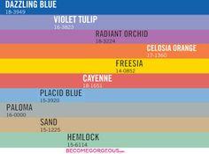 Pantone Spring 2014 Color Trends Forecast
