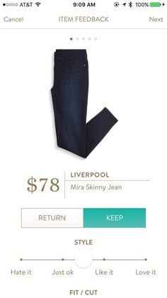 Liverpool Mira Skinny Jean - Stitch Fix--would like a pair in black or dark wash. Petite if possible!