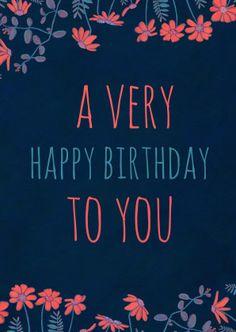 Stoere verjaardagskaart in trendy & kleurrijke letters. Happy birthday to you! Verkrijgbaar bij #kaartje2go voor € 1,89