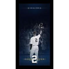 New York Yankees Derek Jeter 14 time All Star Blueprint to Greatness 10x20 Framed Collage - MLB.com Shop