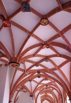 """Mainz, St. Stephan, Kreuzgang """"cloister)"""