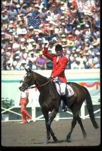 Touch of Class with Joe Fargis - Touch of Class (1973-2001) -TB Show Jumper, ridden by Joe Fargis. Member of 1984 US Team that won Team Gold. 4th horse to win two show jumping golds. First non-human USOC Female Athlete of the Year